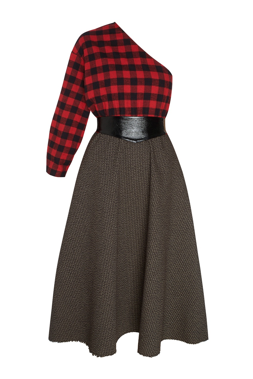 Платье из шерсти и хлопка Grandpa's Plaid