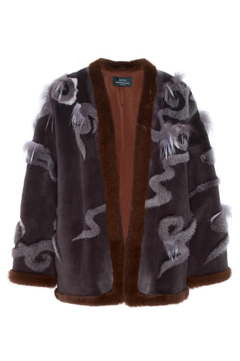 Фото 2 - Норковое пальто от Alena Akhmadullina серого цвета