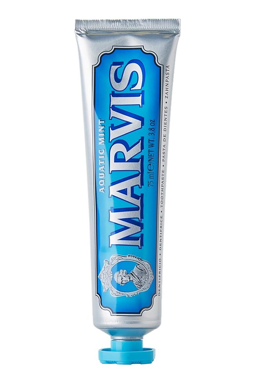 Marvis Зубная паста «Акватическая мята» 75ml зубная паста marvis мята и жасмин объем 75 мл