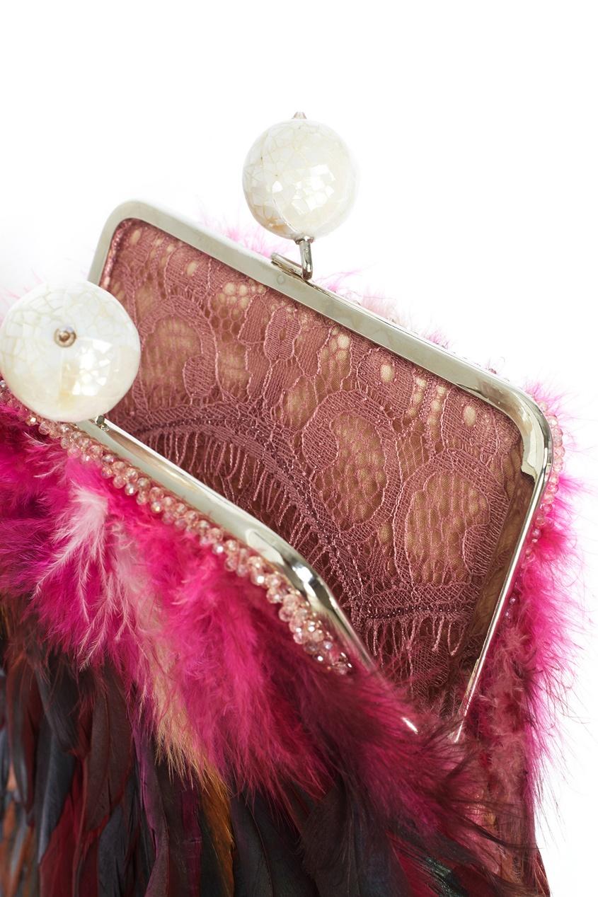 цены на Esve Шелковый клатч с перьями Dragonfly в интернет-магазинах
