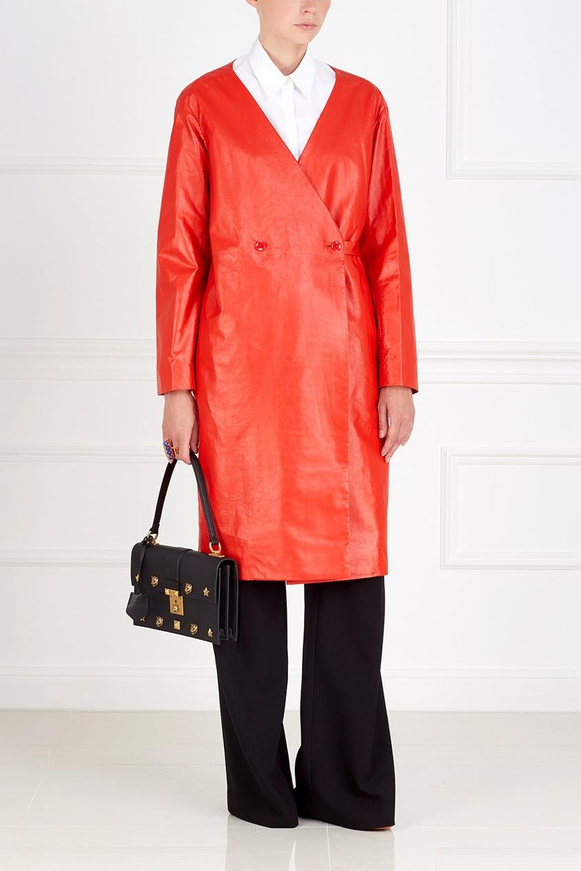 Nina Ricci Кожаное пальто