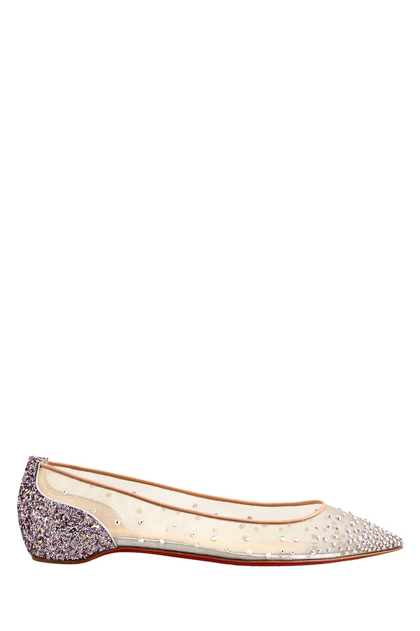 Балетки Follies Strass Flat Rete/Glitter