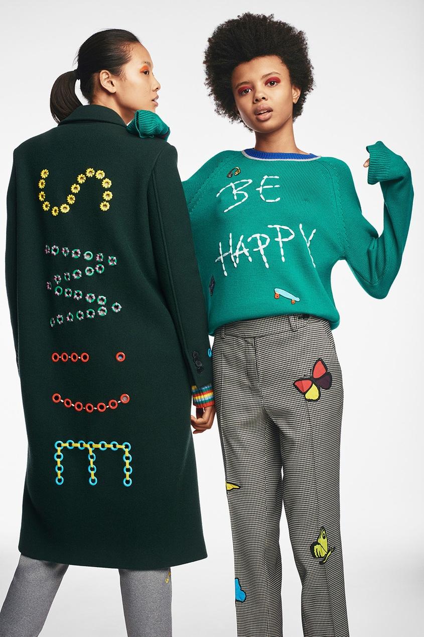 Джемпер из шерсти мериноса Be Happy