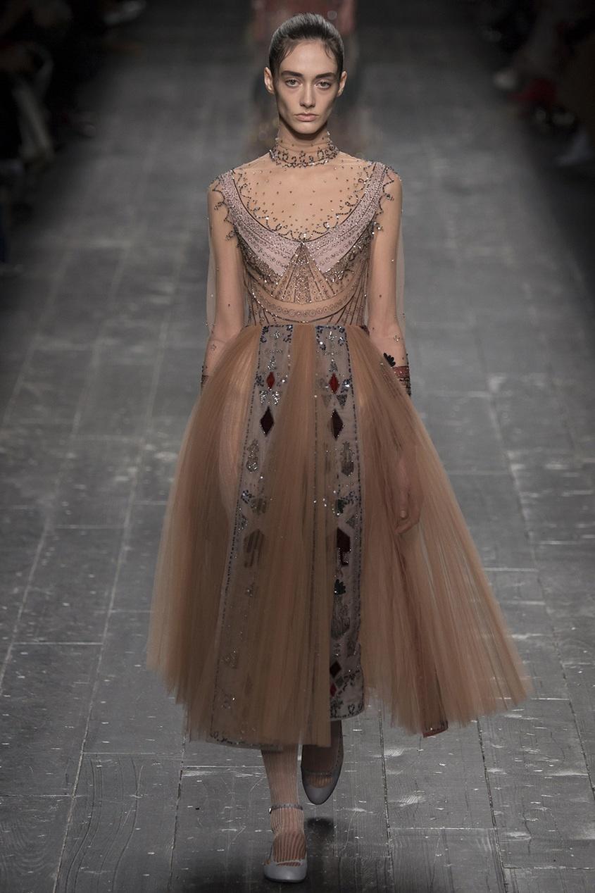 Valentino Пышное платье с отделкой вышивка бисером молящийся христос