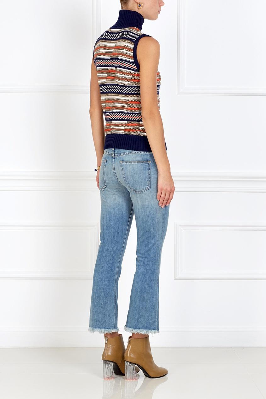 Купить со скидкой Расклешенные джинсы