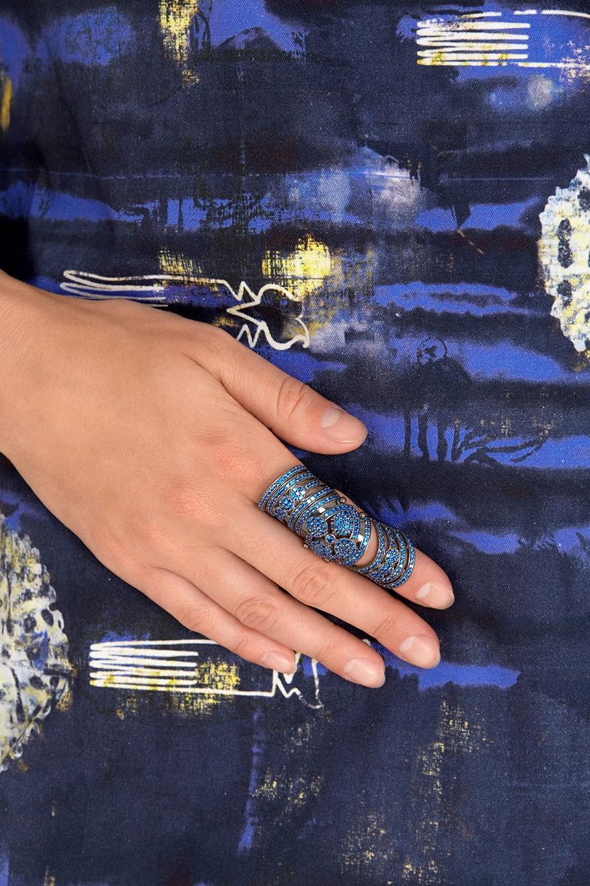 Кольцо с кристаллами Knuckle ring