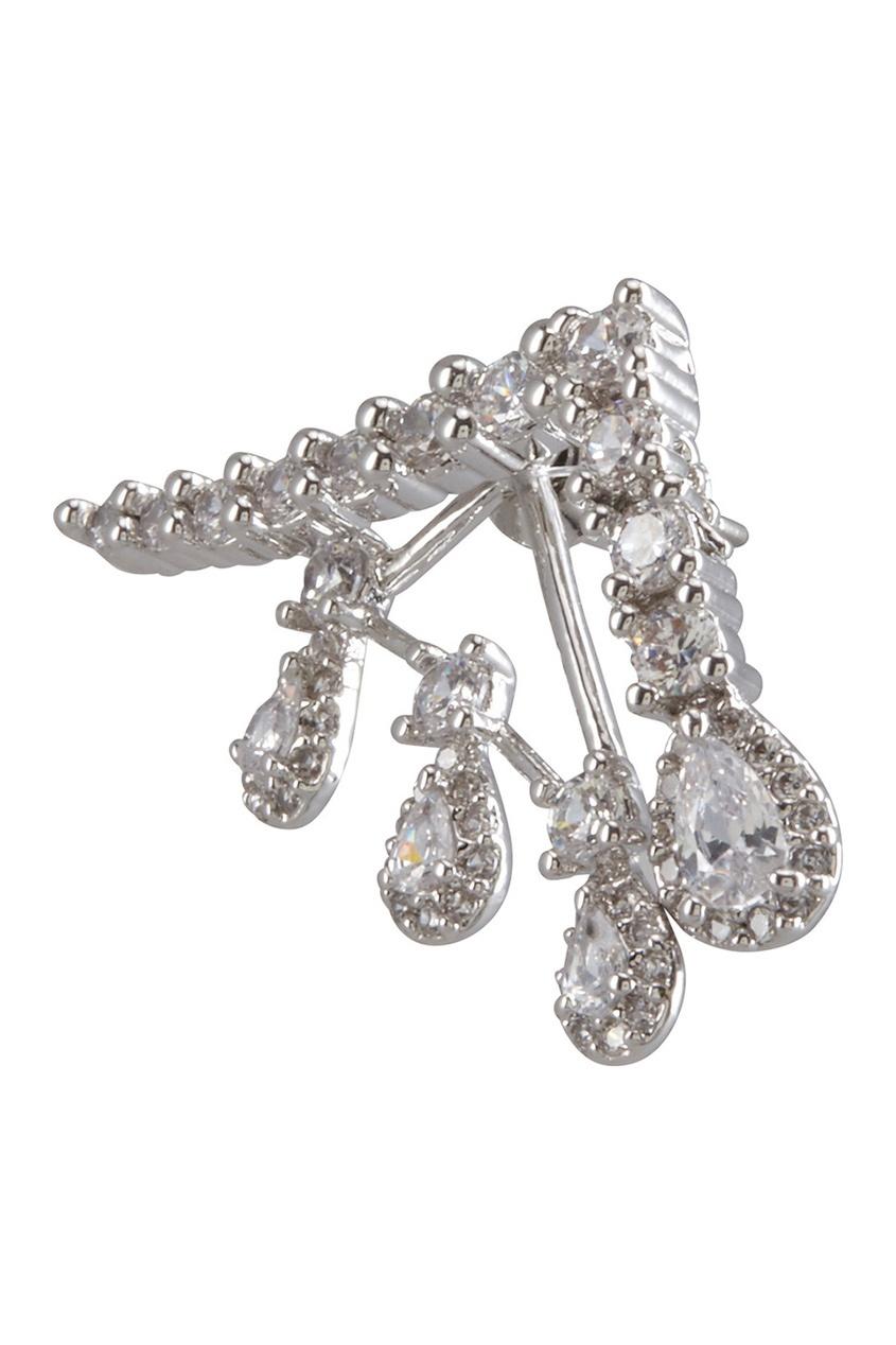 Фото 2 - Серьги с кристаллами от Lisa Smith серебрянного цвета