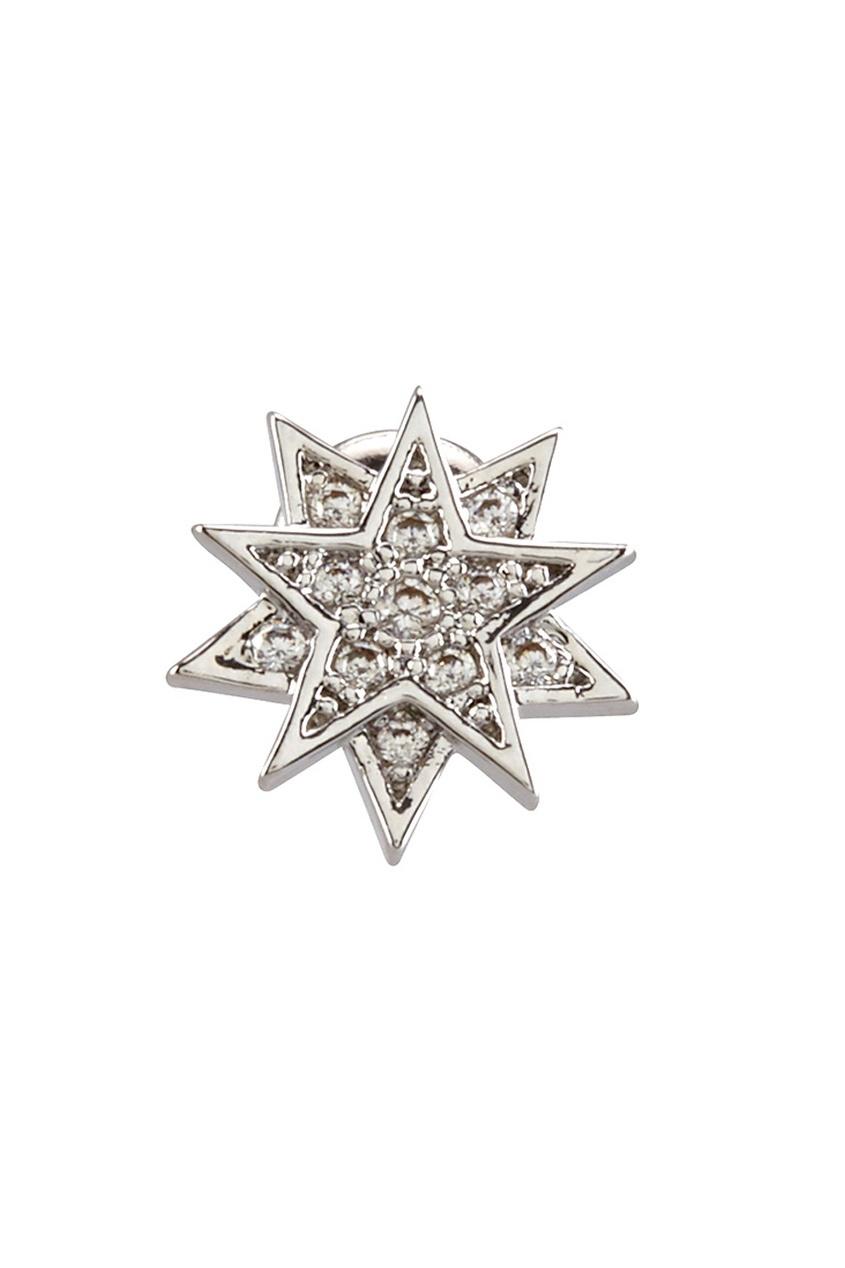 Фото 3 - Серьги с кристаллами от Lisa Smith серебрянного цвета