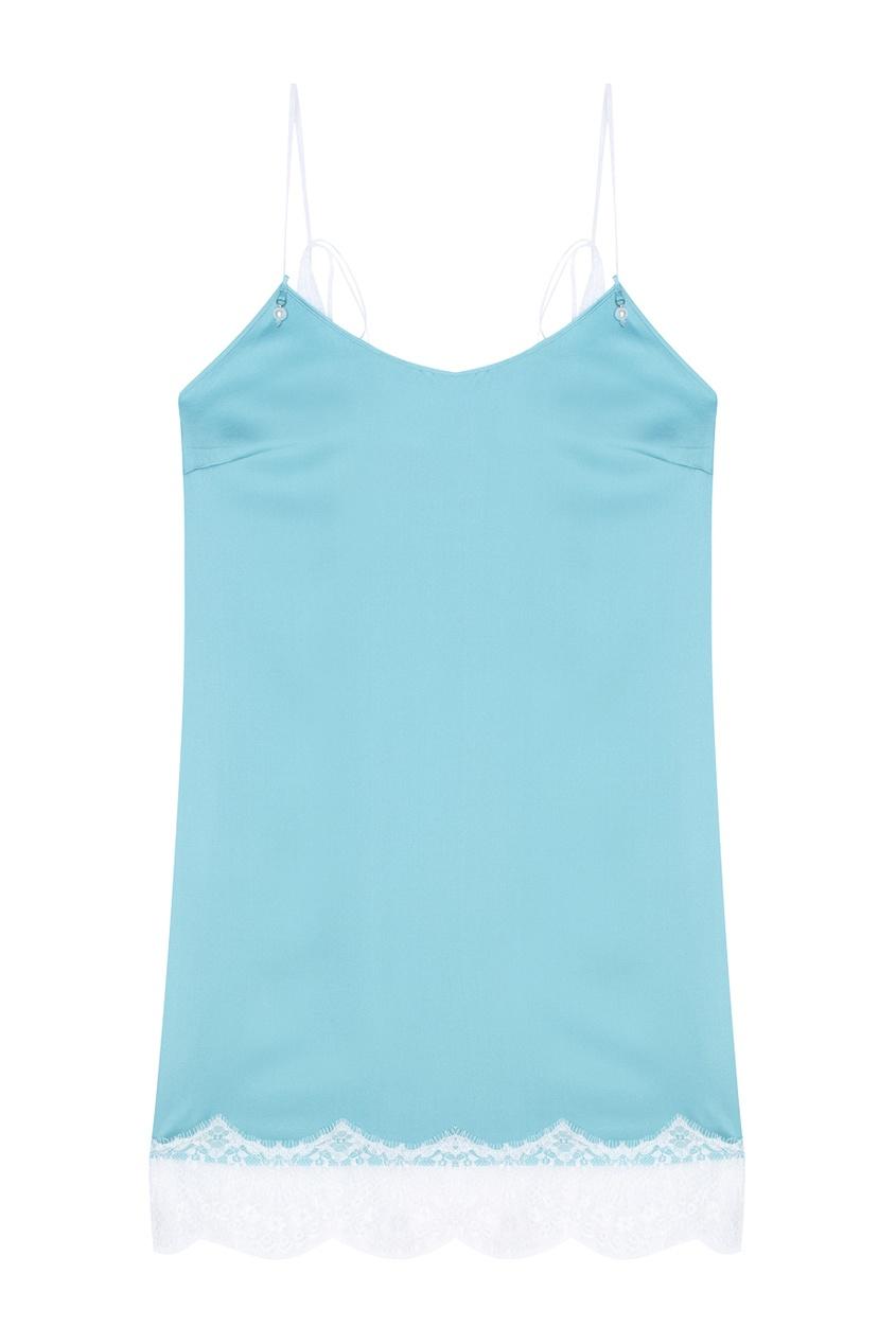 Шелковое платье-комбинация