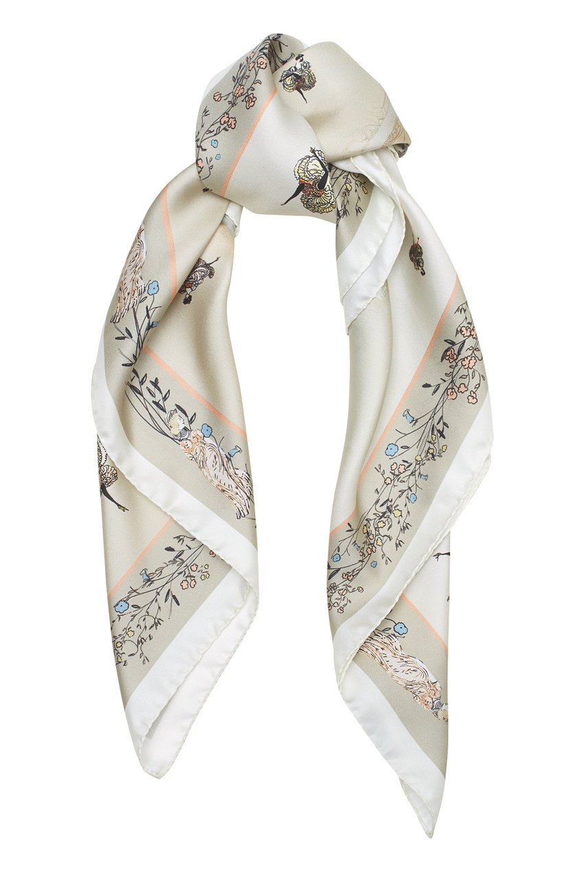 Шелковый платок «Кафешантан»