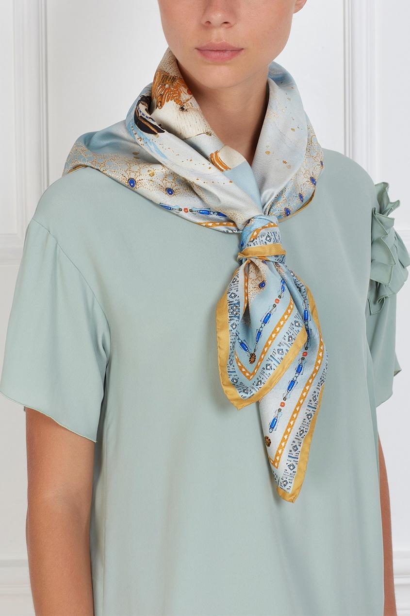 Фото 3 - Шелковый платок «Саломея» от Radical Chic цвет multicolor