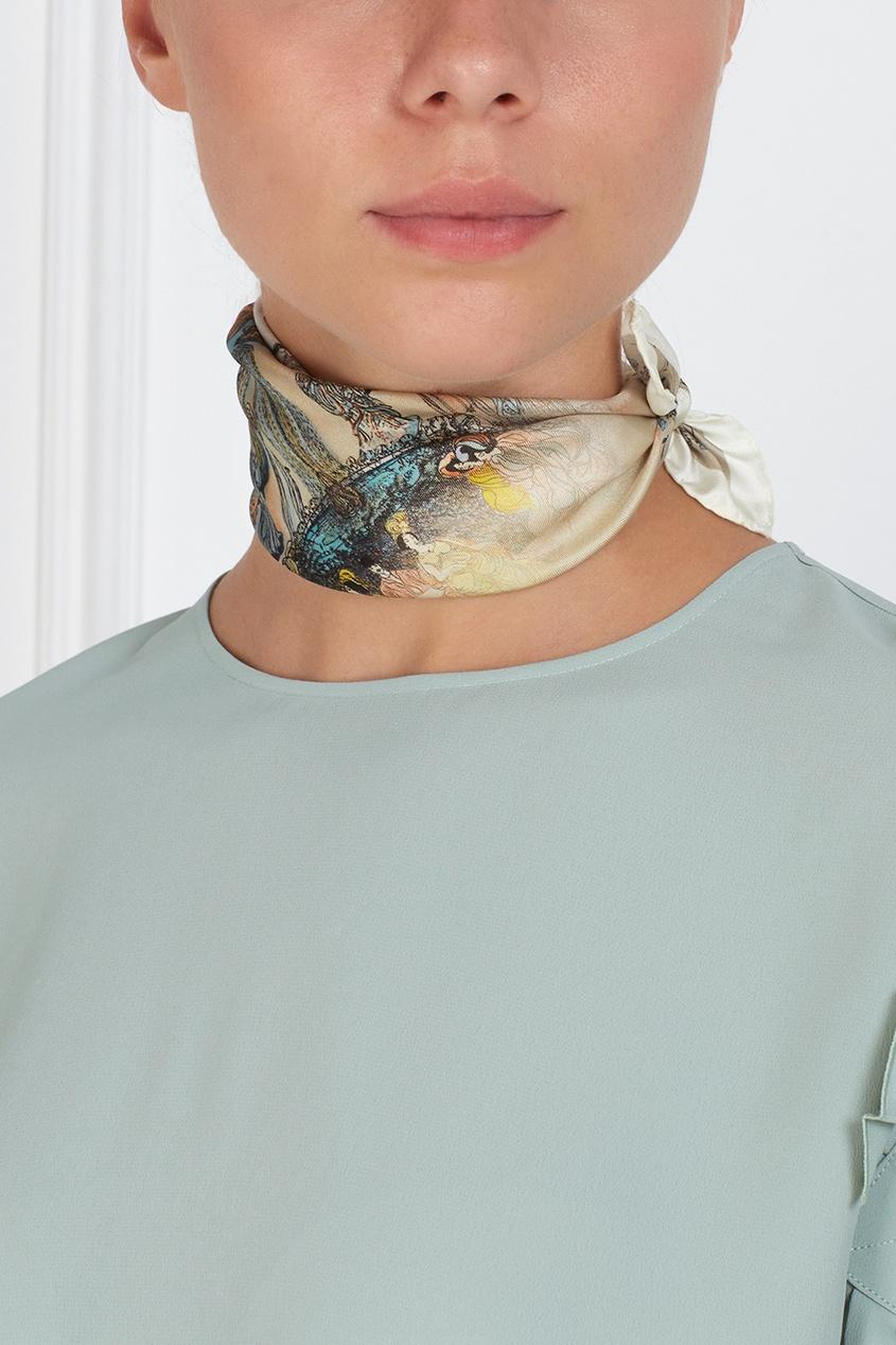 Шелковый платок «Кафешантан» от AIZEL