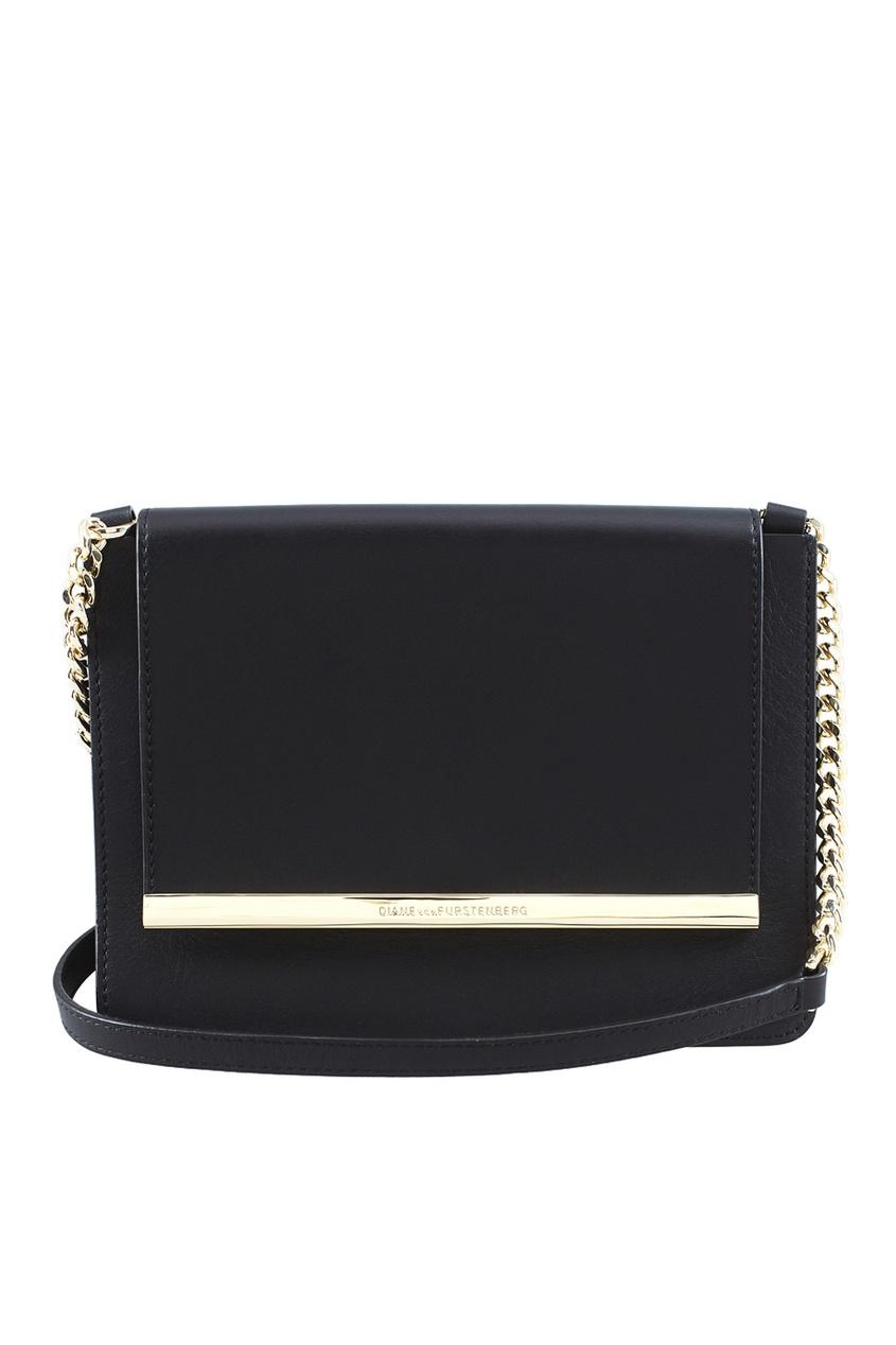Diane von Furstenberg Кожаная сумка Soiree Large Flap