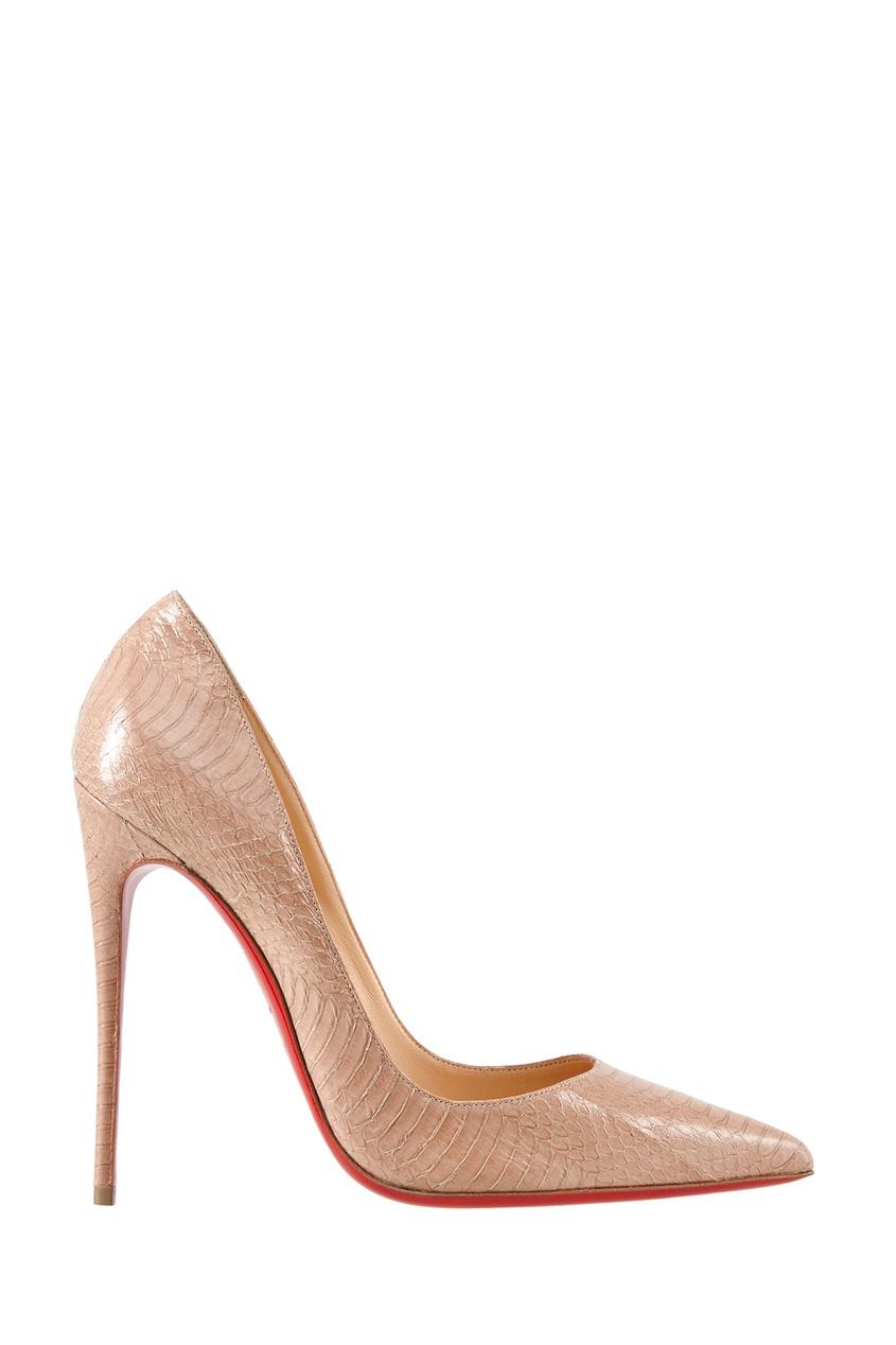 Туфли из кожи змеи So Kate 120
