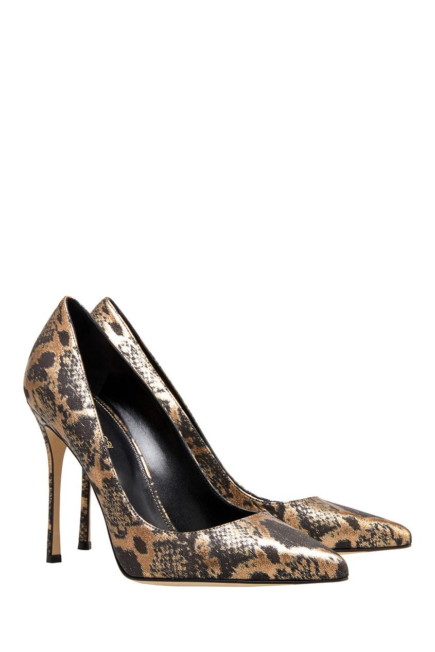 Фото 2 - Кожаные туфли от Sergio Rossi цвет multicolor