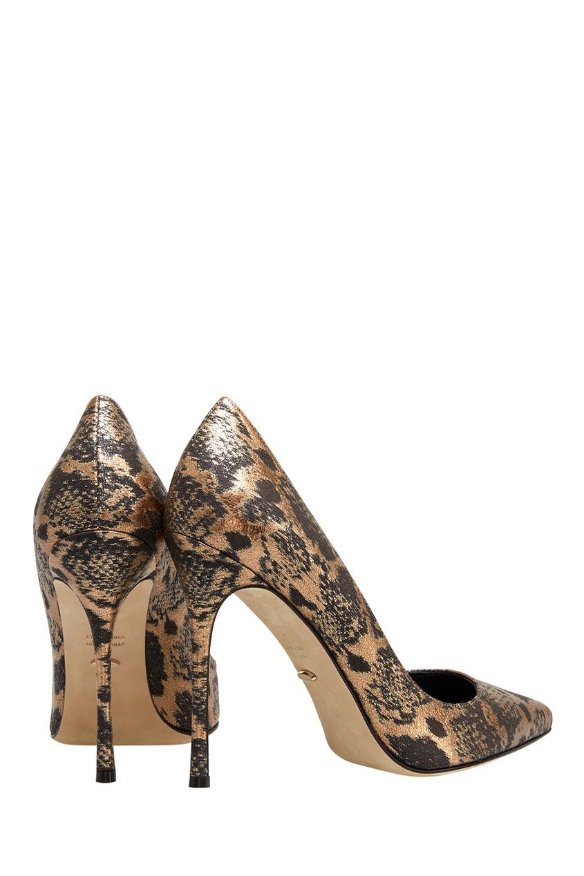 Фото 3 - Кожаные туфли от Sergio Rossi цвет multicolor