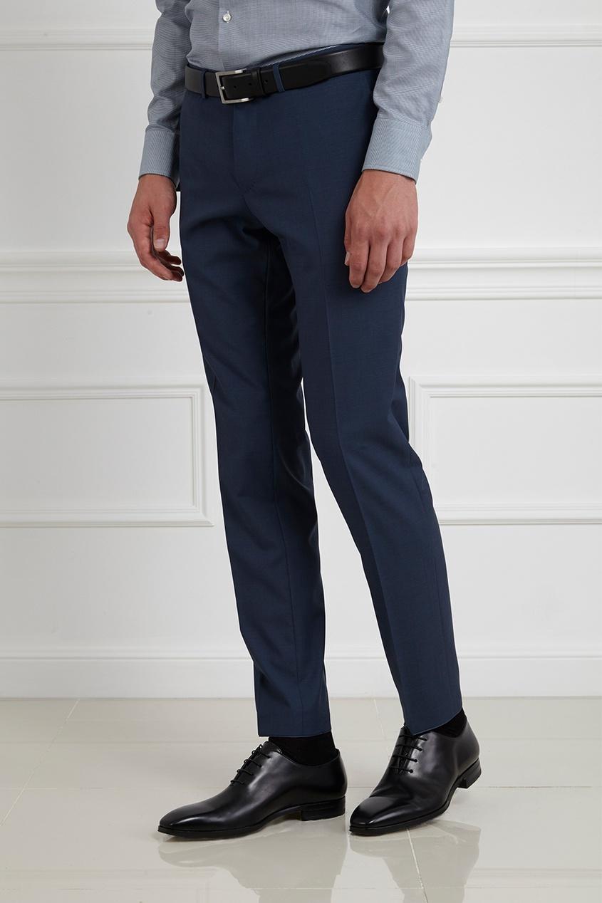 Фото 2 - Шерстяной костюм голубого цвета