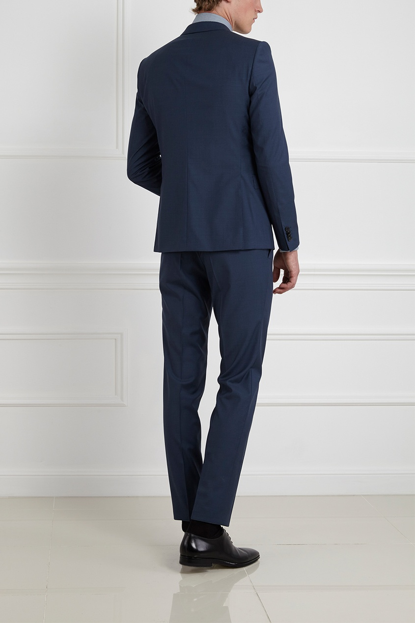 Фото 3 - Шерстяной костюм голубого цвета