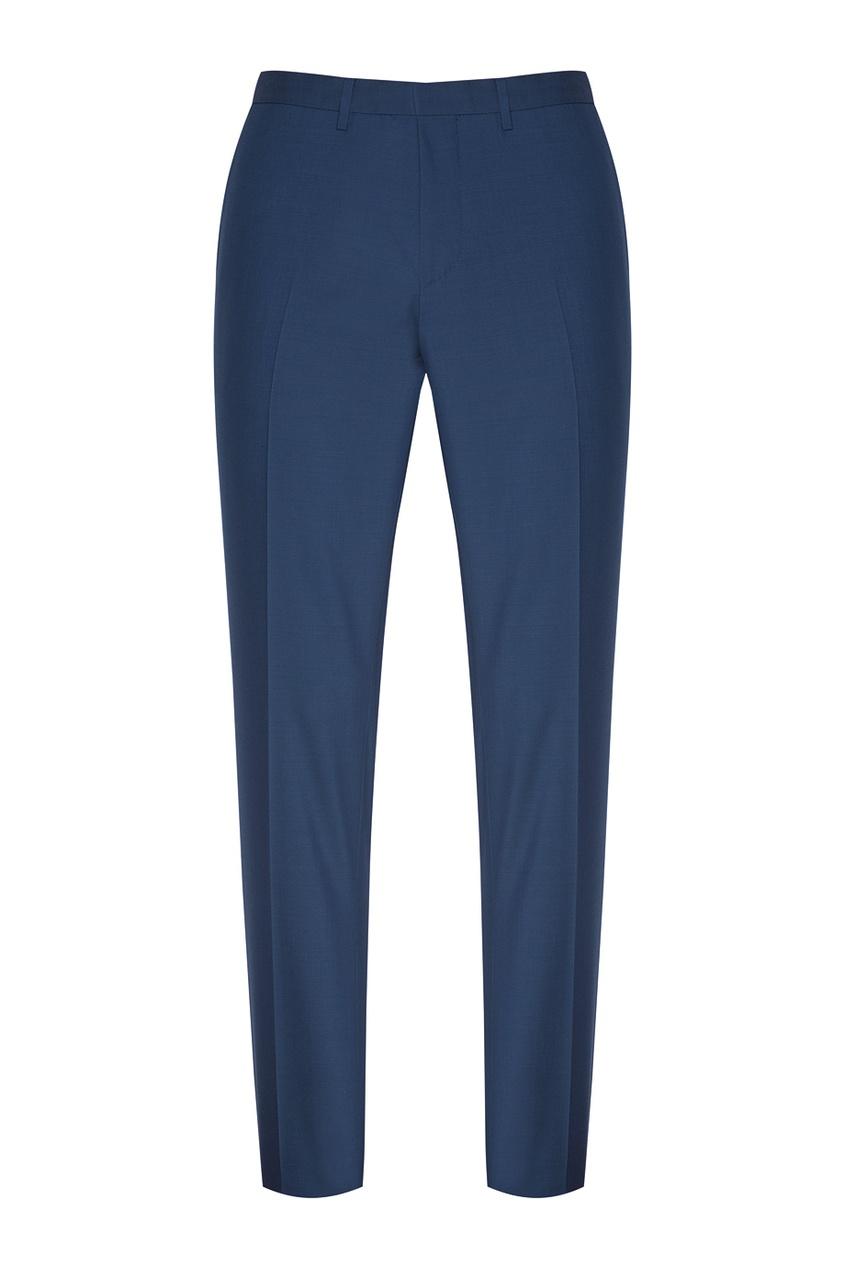 Фото 4 - Шерстяной костюм голубого цвета