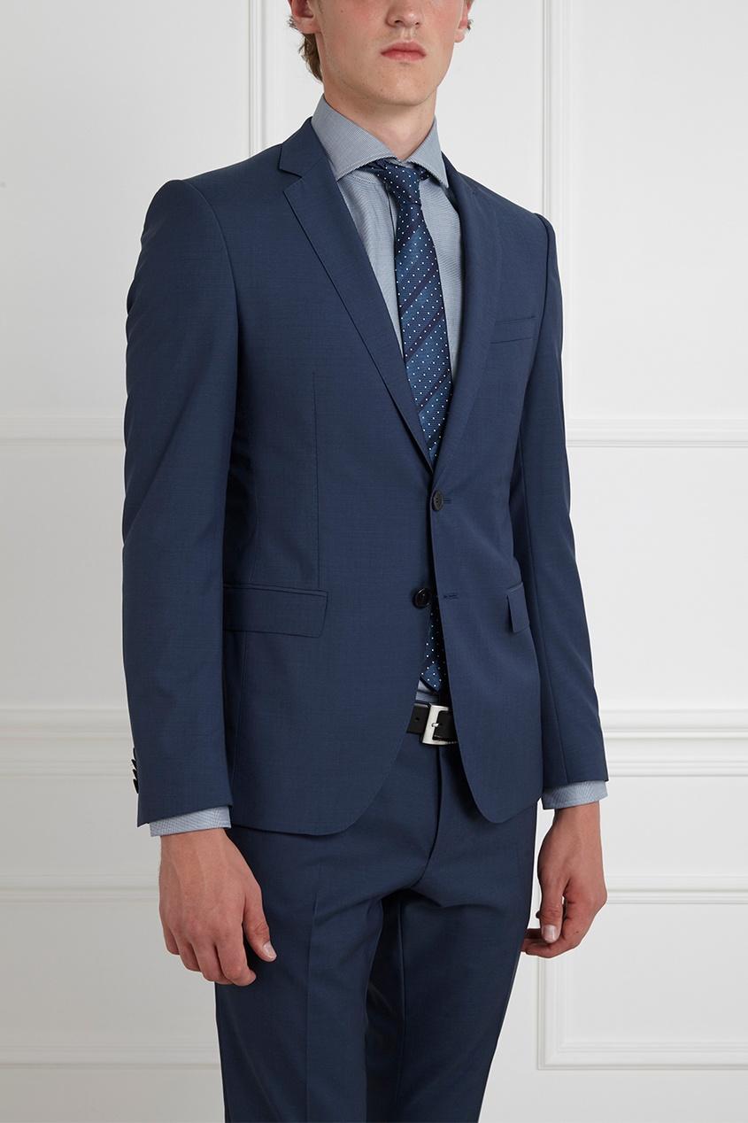 Фото 8 - Шерстяной костюм голубого цвета