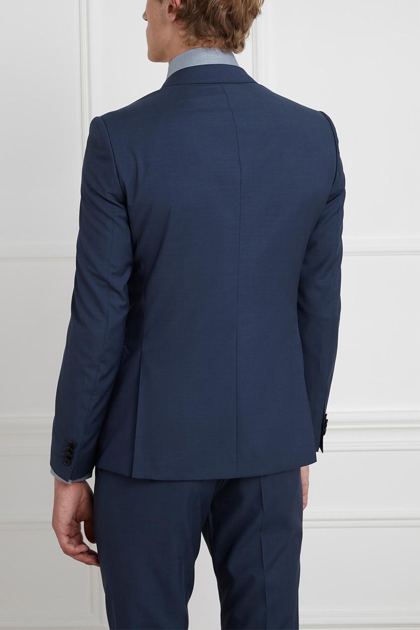 Фото 9 - Шерстяной костюм голубого цвета