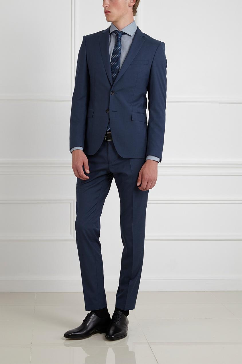 Фото 10 - Шерстяной костюм голубого цвета