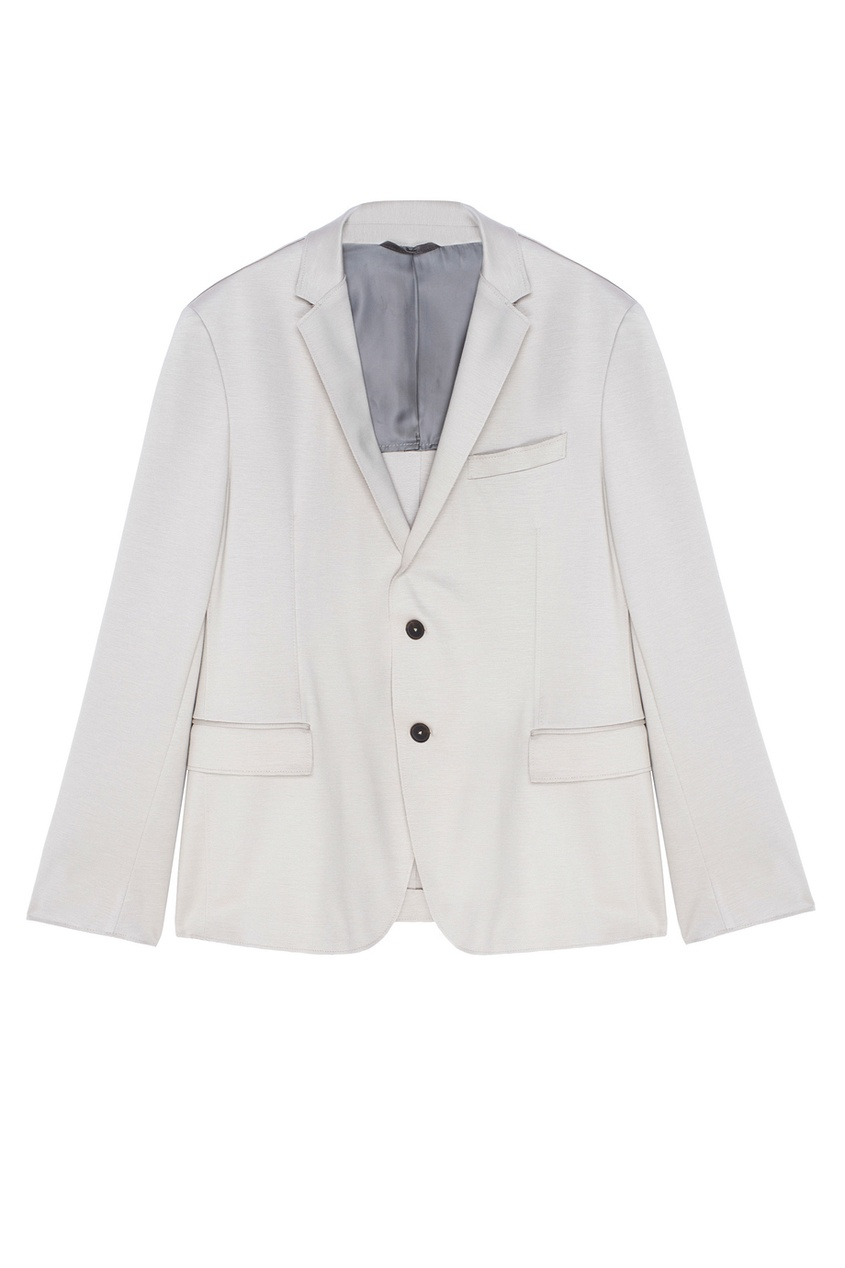 Фото - Однотонный пиджак бежевого цвета