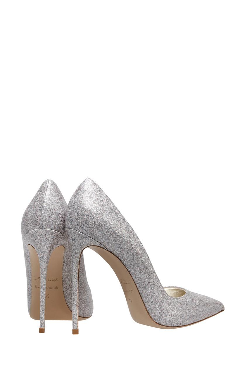 Фото 3 - Кожаные туфли от Le Silla серебрянного цвета