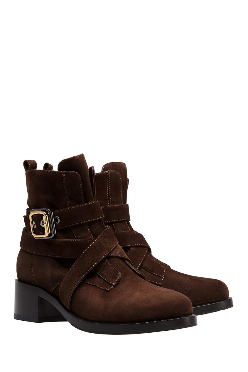 Фото 2 - Замшевые ботинки от Le Silla коричневого цвета