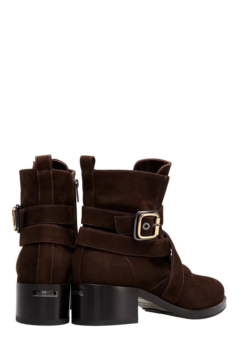 Фото 3 - Замшевые ботинки от Le Silla коричневого цвета
