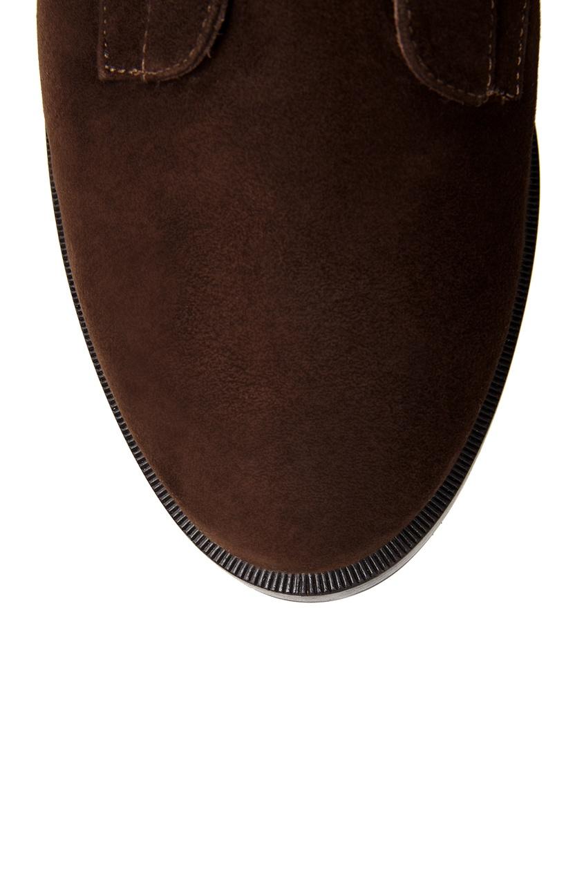 Фото 4 - Замшевые ботинки от Le Silla коричневого цвета