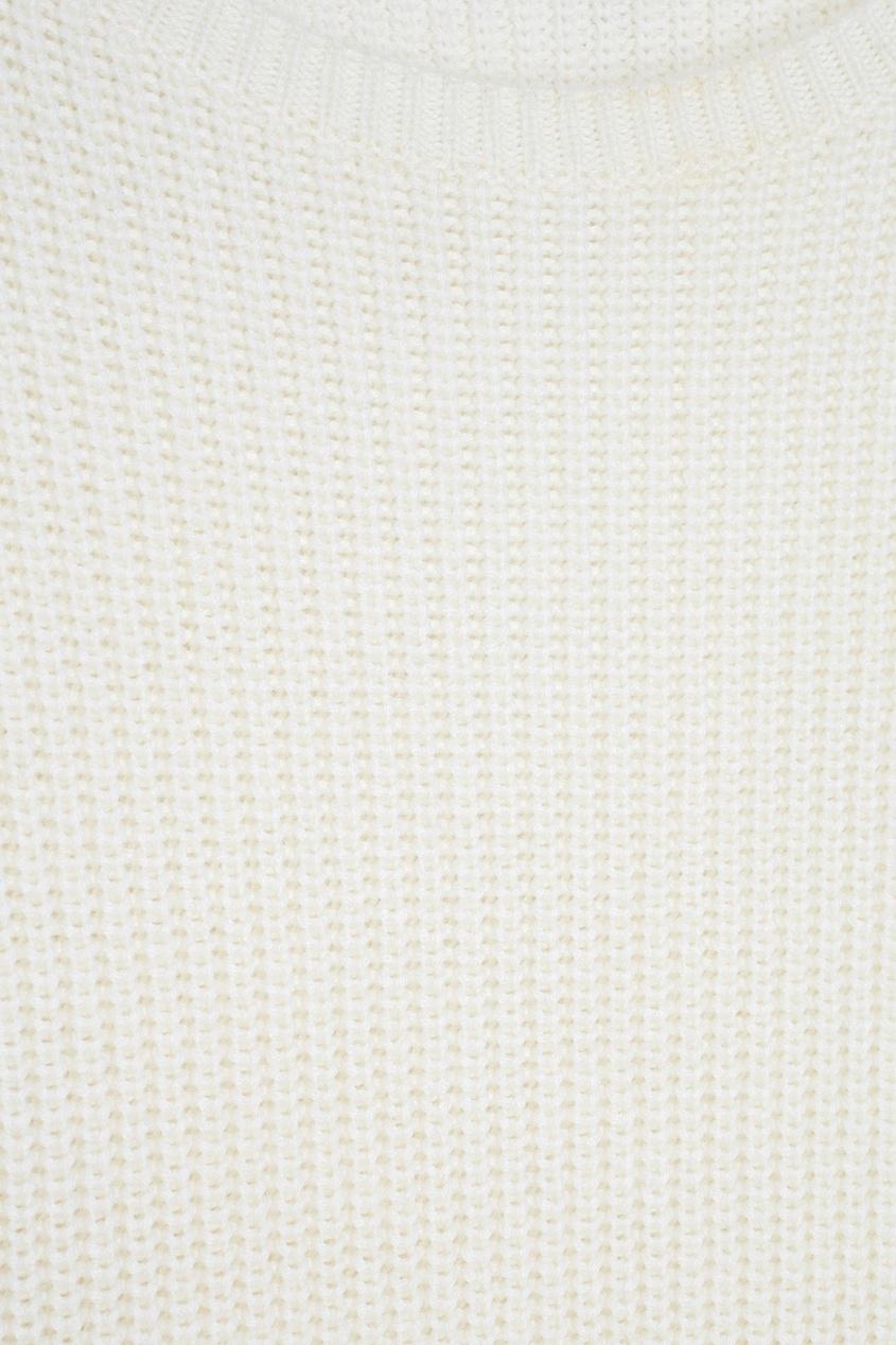 Фото 4 - Шерстяной жилет Farida белого цвета