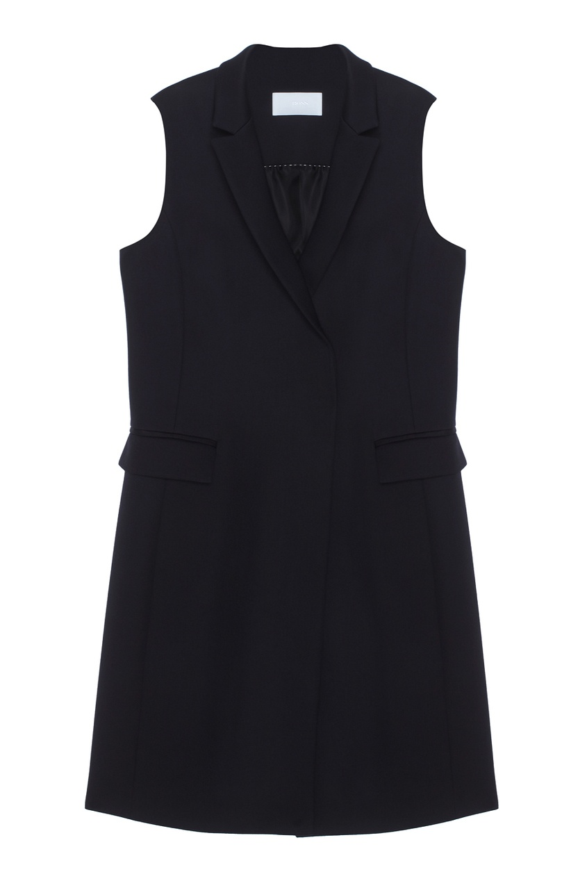 Однотонный жилет Karana BOSS. Цвет: черный