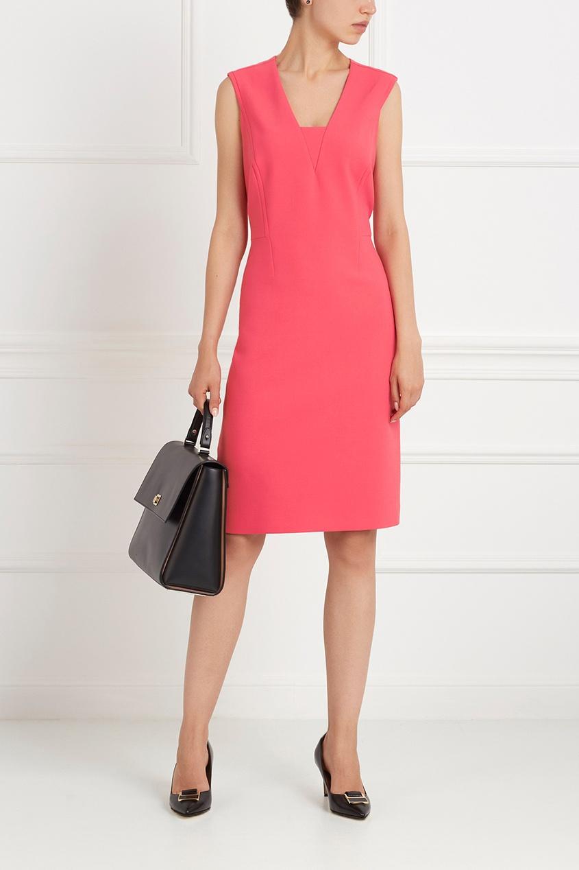 Фото 3 - Однотонное платье Dasala розового цвета