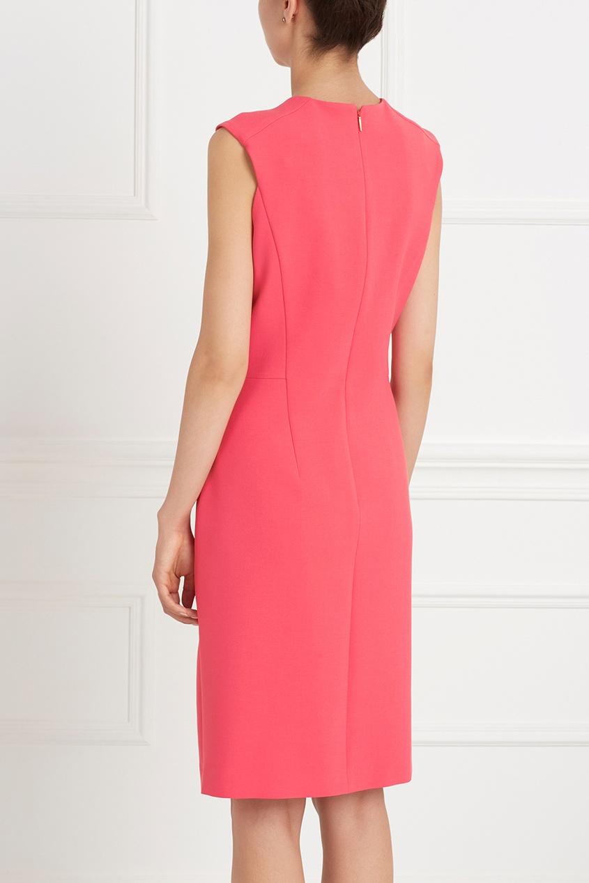 Фото 5 - Однотонное платье Dasala розового цвета