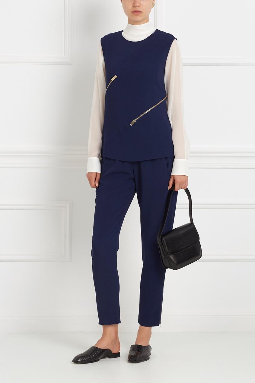 Фото - Однотонные брюки от Stella McCartney синего цвета