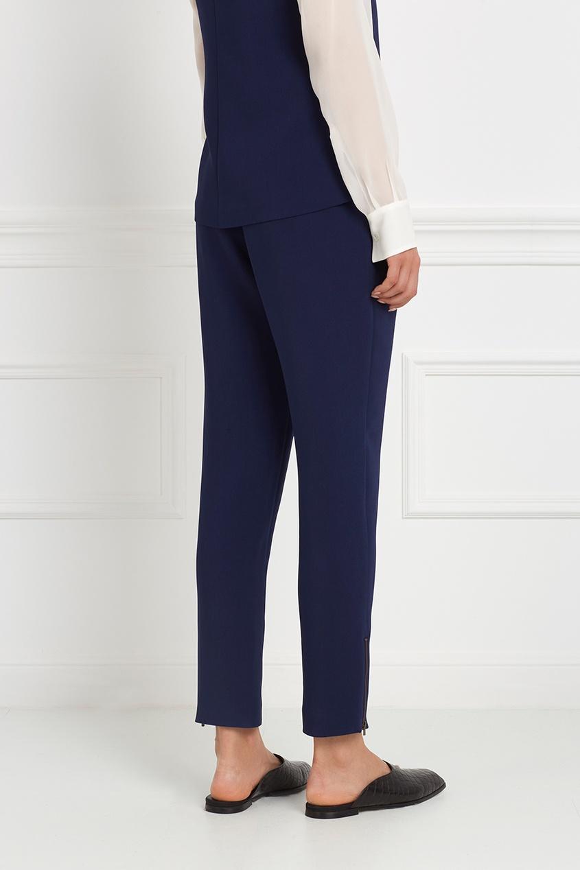 Фото 4 - Однотонные брюки от Stella McCartney синего цвета