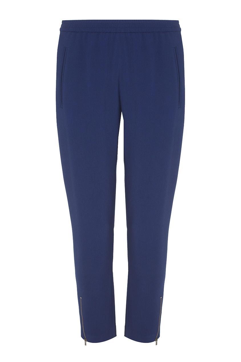 Фото 5 - Однотонные брюки от Stella McCartney синего цвета