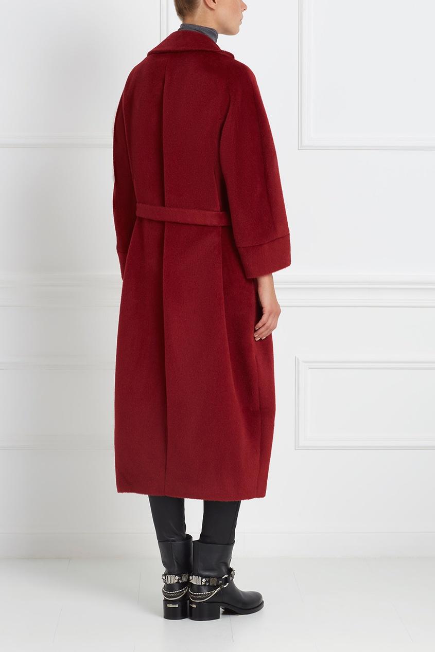 Пальто из ламы и шерсти