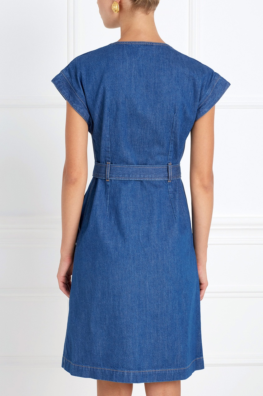 Фото 2 - Платье из денима Tucson синего цвета