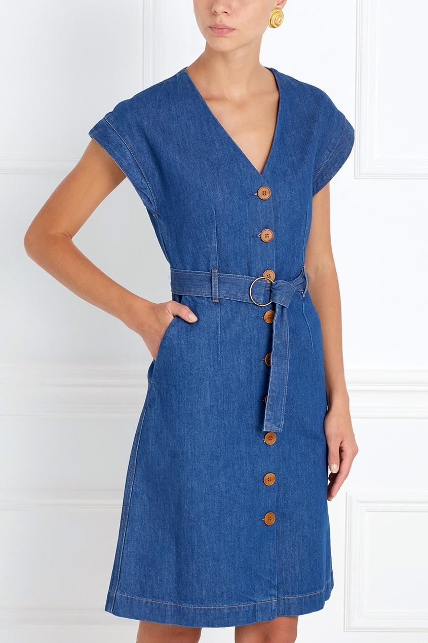 Фото 3 - Платье из денима Tucson синего цвета