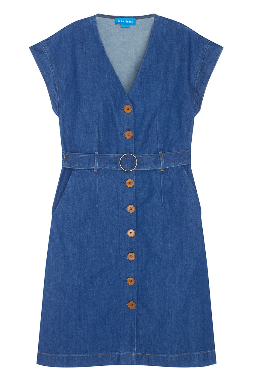 Фото 4 - Платье из денима Tucson синего цвета