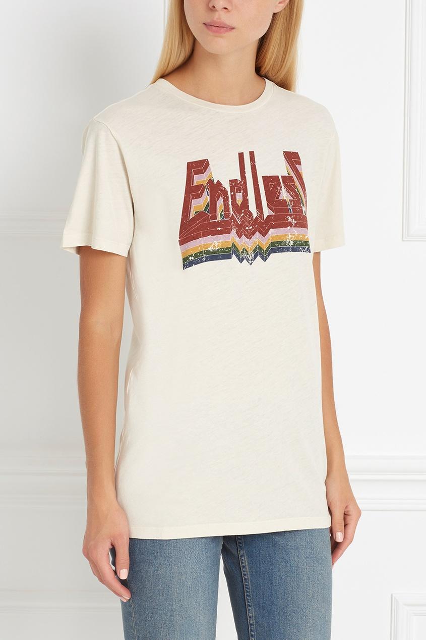 Хлопковая футболка Dewel