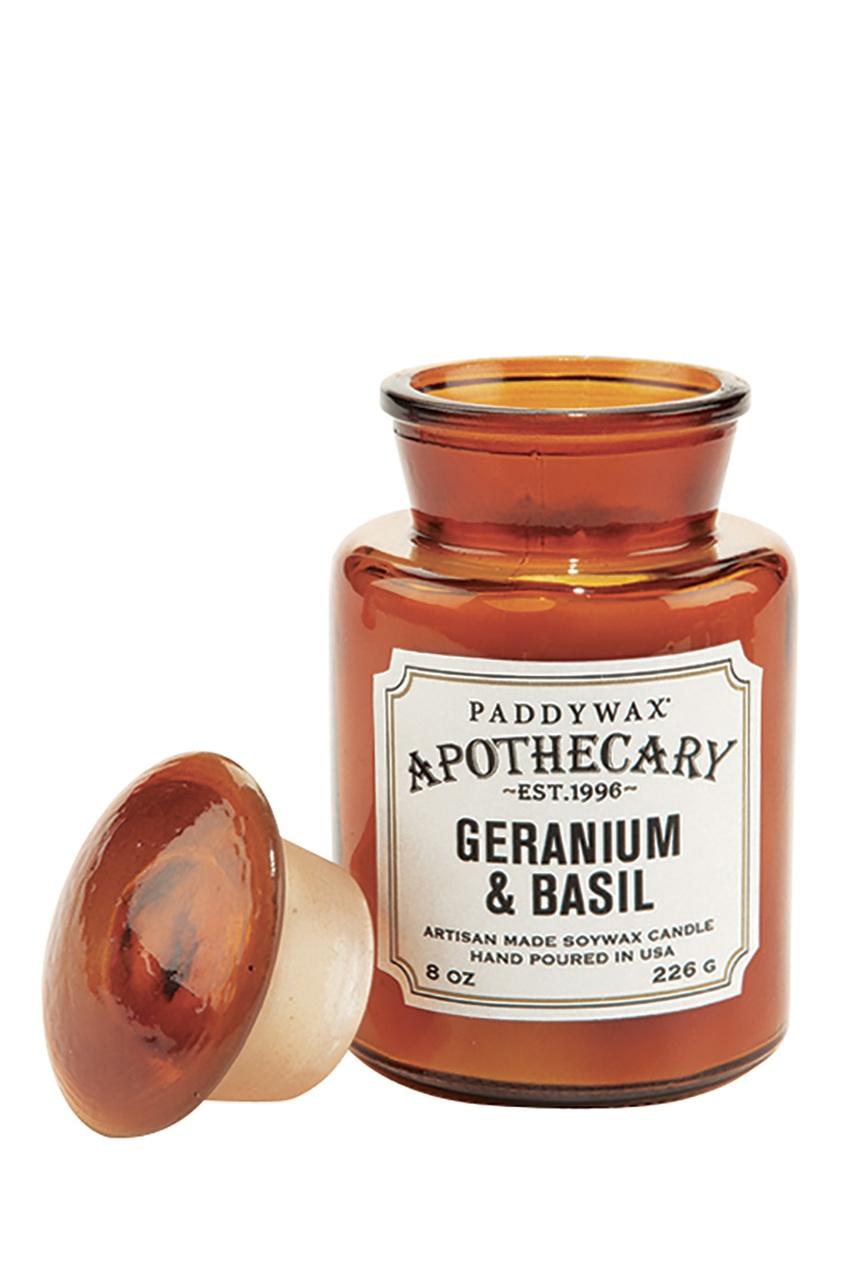 Paddy Wax Ароматическая свеча Geranium & Basil, 227гр