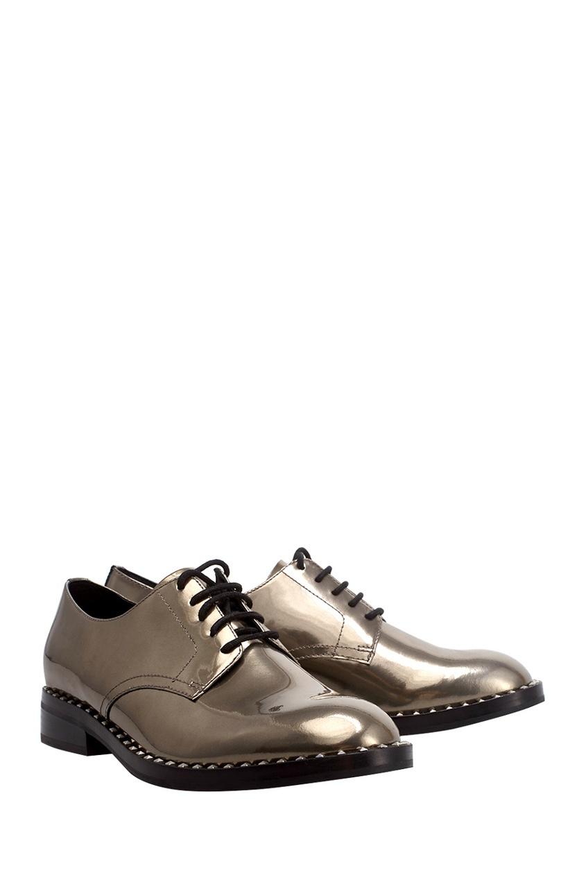 Ботинки из металлизированной кожи Wonder
