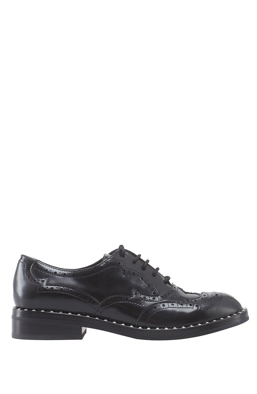Купить со скидкой Кожаные ботинки Wing черные