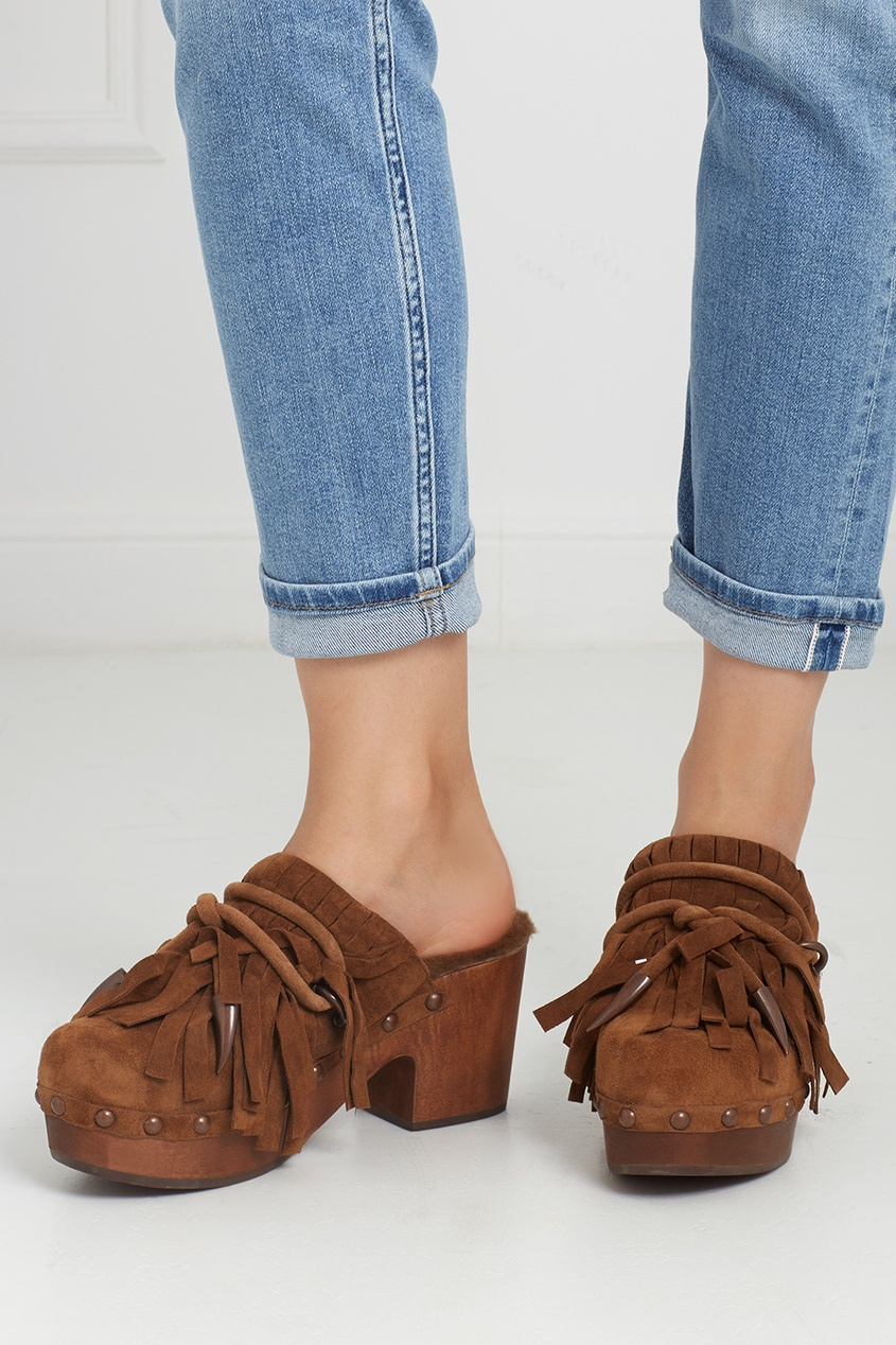 Замшевые туфли-мюли Jig