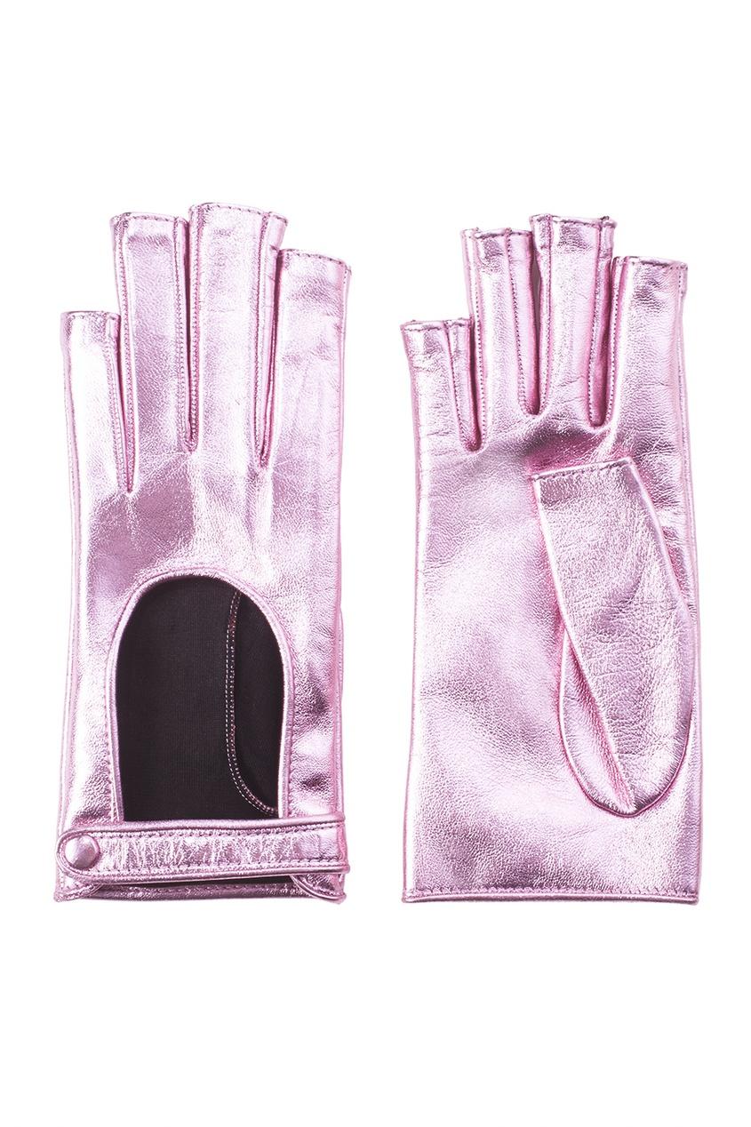 Перчатки из металлизированной кожи