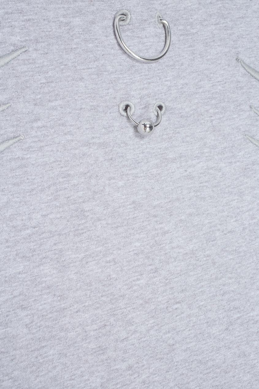 Mugler Хлопковая футболка