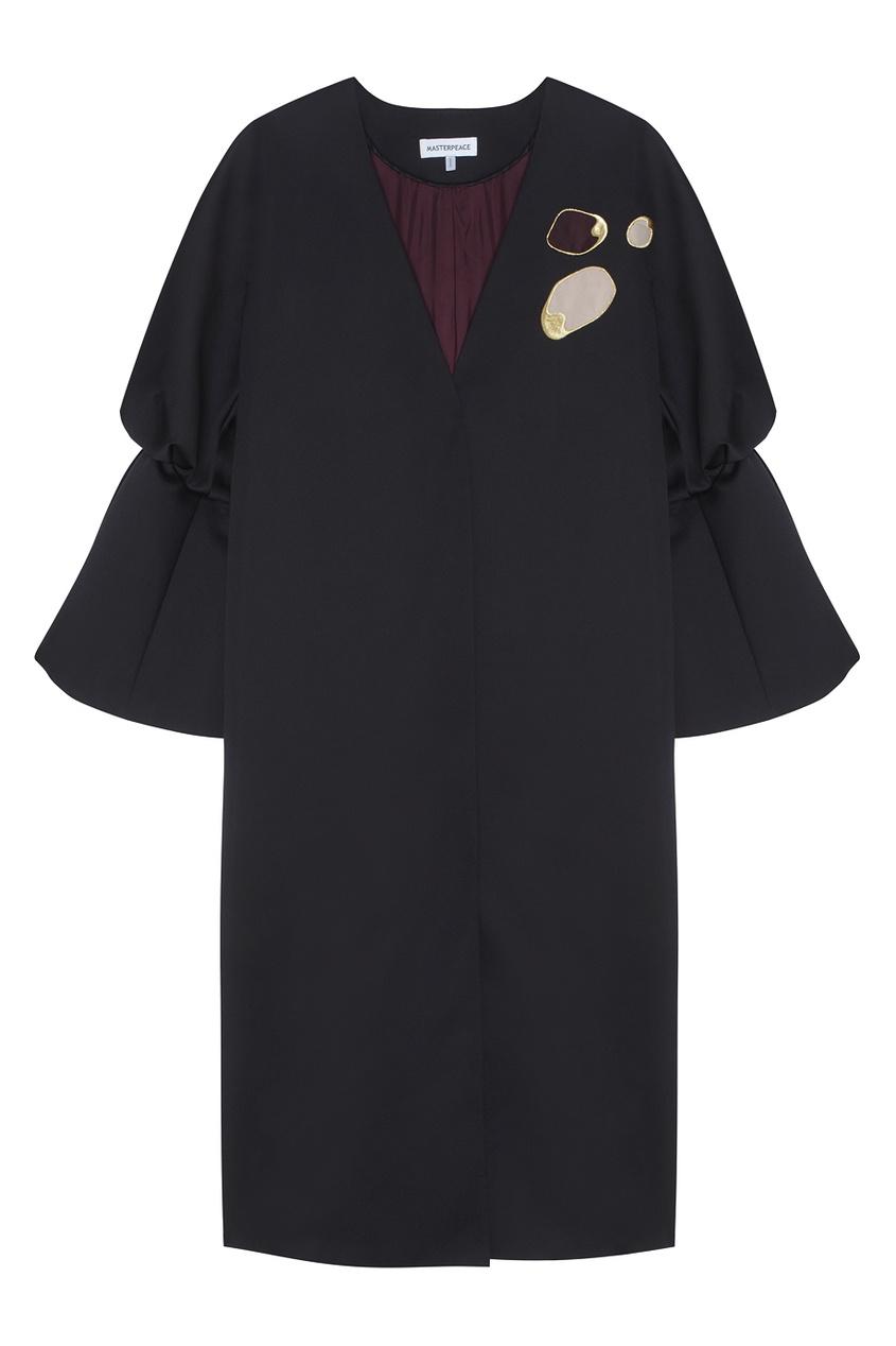 Пальто с рукавами-буфами